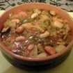 minestrone di verdure con pane