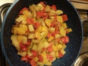 4 aggiungere peperoni