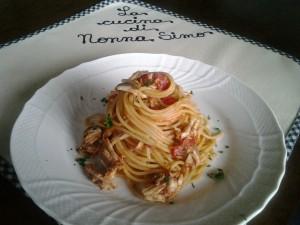 8 Spaghetti alle acciughe fresche
