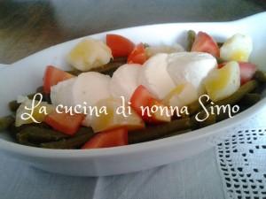 Fagiolini con mozzarella