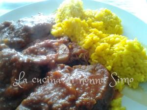 Ossobuco di manzo con risotto allo zafferano