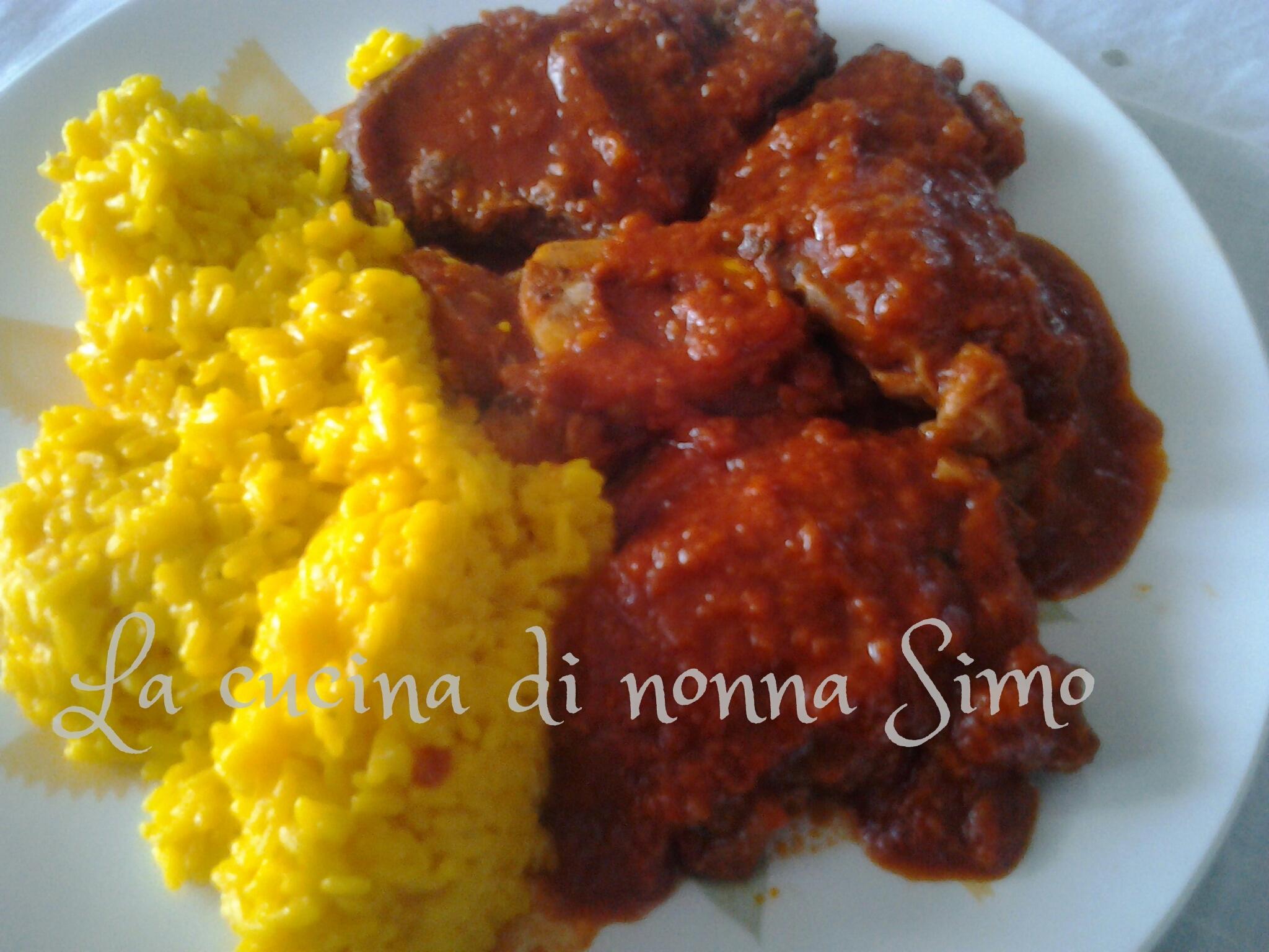 ossobuco con risotto allo zafferano - la cucina di nonna simo - Come Cucinare Gli Ossibuchi Di Manzo